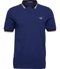contrast polo shirt polos short-sleeved blå fred perry