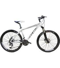 bicicletas todo terreno gw alligator  rin 29 shimano 7 vel. freno disco suspen blanco negro