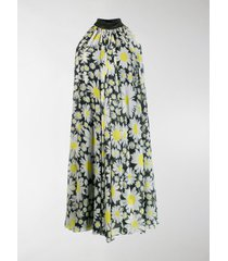 richard quinn daisy print flared dress