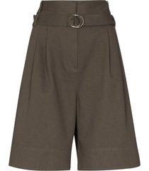 tibi jenson high-waist shorts - green
