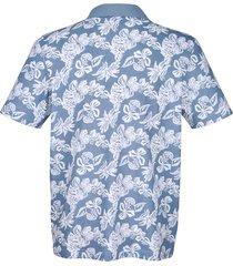 mönstrad tröja med krage roger kent blå