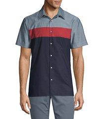colorblock short-sleeve shirt