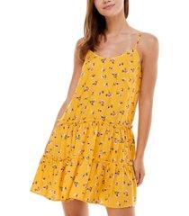 as u wish juniors' tiered floral-print dress
