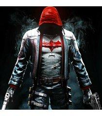 batman red hood jacket, leather jacket for men, batman leather jacket for men