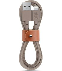 belt lightning charging cable - taupe