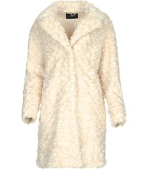 faux fur jas lizzy  off-white