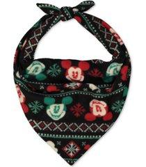 matching pet holiday mickey & minnie family pajama pet bandana