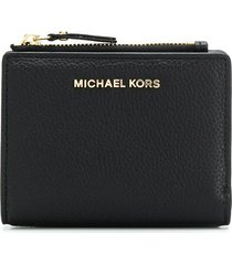 michael kors wallet in textured leather with logo