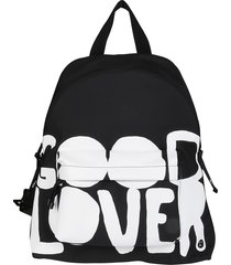 black and white lovers language backpack