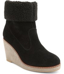 kensie holliston wedge booties women's shoes
