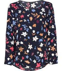 blouse blus långärmad multi/mönstrad marc o'polo