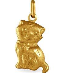 ciondolo in oro giallo gatto per unisex