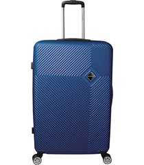 mala de bordo padrão anac em abs - santino - 19 polegadas - azul marinho