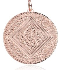 marie pendant, rose gold vermeil on silver