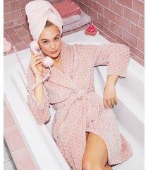 hunkemöller morgonrock fleece rosa