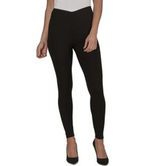 just polly juniors' ruched-waist rib-knit leggings