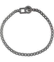tateossian gear venetian bracelet - silver