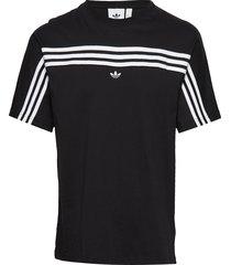 3stripe ss tee t-shirts short-sleeved svart adidas originals