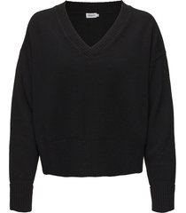 cropped v-neck sweater gebreide trui zwart filippa k