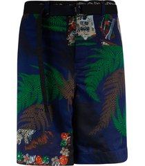 sacai tropical print shorts