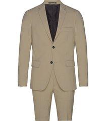 plain mens suit pak beige lindbergh