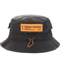 heron preston bucket hat with drawstring