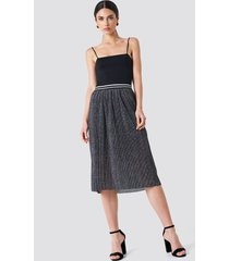 rut&circle glitter pleat skirt - grey,silver
