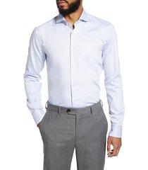 men's big & tall boss slim fit dress shirt, size 18 - blue