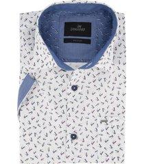 wit geprint korte mouwen overhemd vanguard