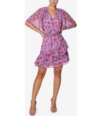 laundry by shelli segal kimono-sleeve mini dress