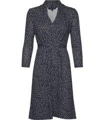 chinwe jersey v neck dress knälång klänning blå french connection
