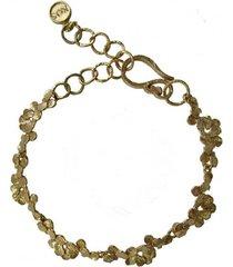 bransoletka z płatków złota