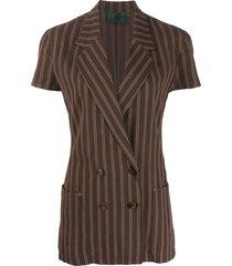 jean paul gaultier pre-owned 1990s short sleeved blazer - brown