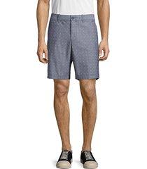 original penguin men's cross-print cotton shorts - dark sapphire - size 29