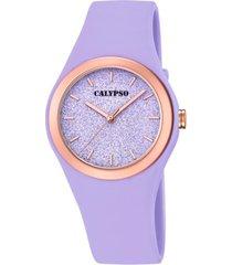 reloj trendy morado calypso