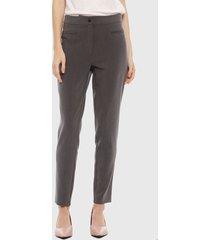 pantalón ash liso gris - calce ajustado