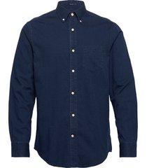 d1. indigo diamond dobby reg bd skjorta casual blå gant