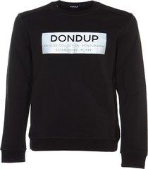 dondup logo print ribbed sweatshirt