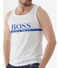 boss contrast logo tank top - natural 50407629