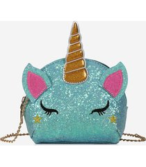 cartoon unicorn sequins crossbody bag