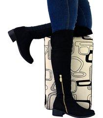 botas en microfibra xl para mujer outfit large sheet negro