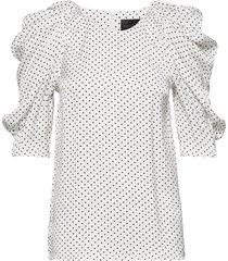 charlotte blouse blouses short-sleeved wit birgitte herskind