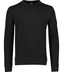 hugo boss trui zwart ronde hals model walkup