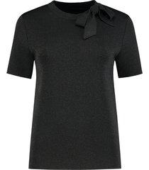 zwarte glitter top met strik dames nikkie - n7-563 1805 9000