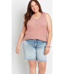 maurices plus size womens high rise light ripped hem relaxed bermuda shorts blue