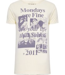camiseta masculina mondays are fine - amarelo