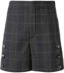 chloé plaid shorts - grey