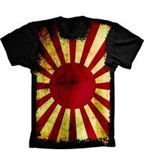 camiseta baby look lu geek flag japã£o preto - preto - feminino - dafiti