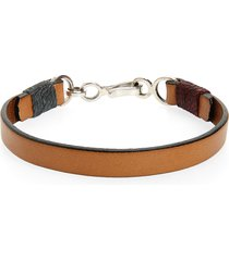 men's caputo & co. leather bracelet
