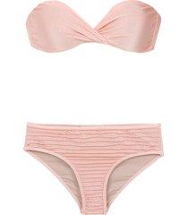 adriana degreas strapless bikini set - pink